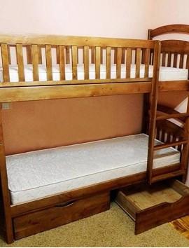 Двухъярусаня кровать Карина СП (съёмные бортики)