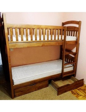 Двухъярусаня кровать Карина СБ (съёмные бортики)