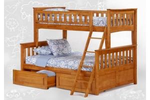 Трёх спальная - Двухъярусная кровать Жасмин